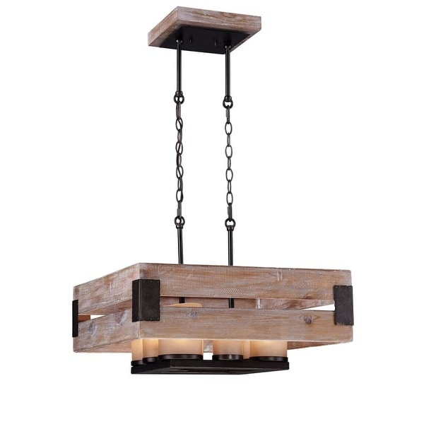 Eurofase Lighting 26366 Cesto 8 Light 1 Tier Chandelier with Iron Accents