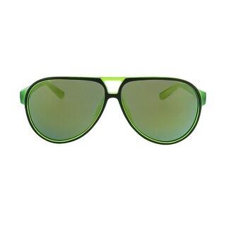 Lacoste L714S 002 Black/Green Aviator Sunglasses