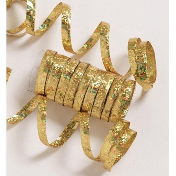 Pack of 6 Spools of Ravishing Gold Holographic Serpentine Party Streamers 75'