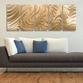 Statements2000 Copper Modern Abstract 3D Metal Wall Art Panels by Jon Allen - Copper Hypnotic Sands - Thumbnail 1