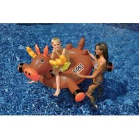 "56"" Water Sports Inflatable Ride-On Moose Swimming Pool Float - brown"