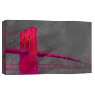 """PTM Images 9-103705  PTM Canvas Collection 8"""" x 10"""" - """"Brooklyn Bridge"""" Giclee Cityscapes Art Print on Canvas"""