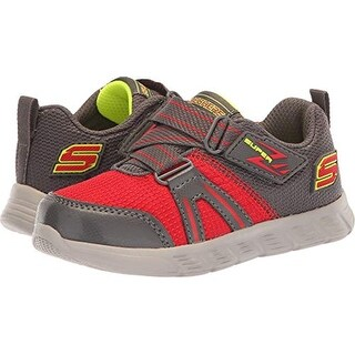 Skechers Kids Baby Boy's Comfy Flex - Micro Leap (Toddler/Little Kid) Red/Charcoal 10 M Us Toddler M