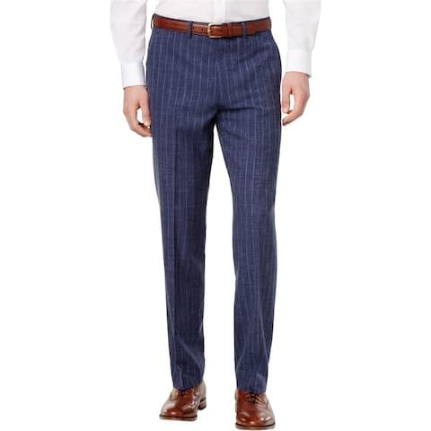 Ryan Seacrest Mens Chalk Stripe Dress Pants Slacks