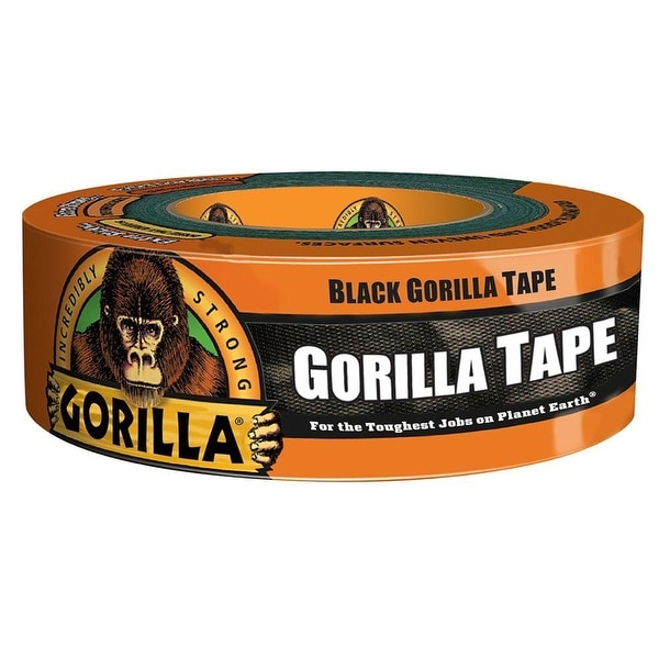 "Gorilla 6035060 Incredibly Strong Duct Tape, Black, 1.88"" x 35 Yd"