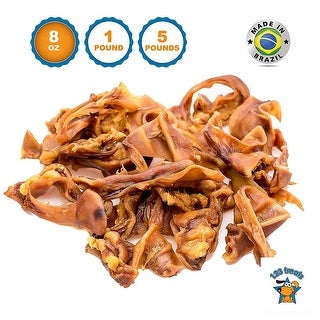 Pigs Ears Strips for Dogs Chews 100% Natural Healthy Pig Ear Slivers Dog Treats Pork Curls Pet Chew by 123 Treats