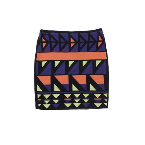 Rachel Rachel Roy Twilight Graphic-Jacquard Body-Con Mini Skirt XS