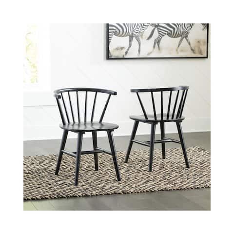 "Otaska Black Dining Room Side Chair Set of 2 - 22""W x 21""D x 30""H"
