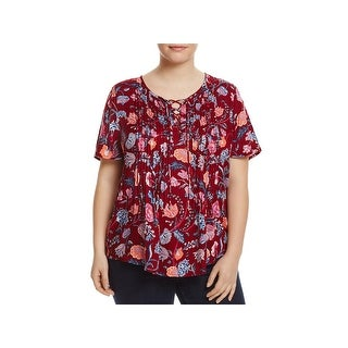 Lucky Brand Womens Plus Blouse Woven Pintuck (2 options available)
