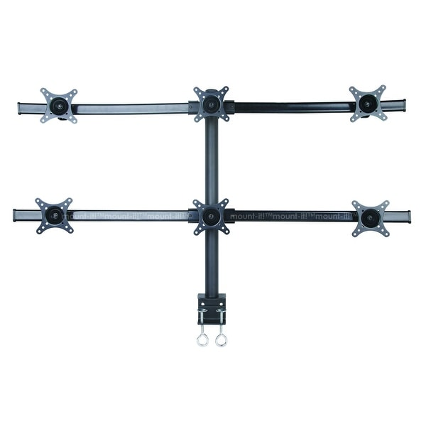Mount-It! Hex Monitor Stand Desk Mount for Six Screens
