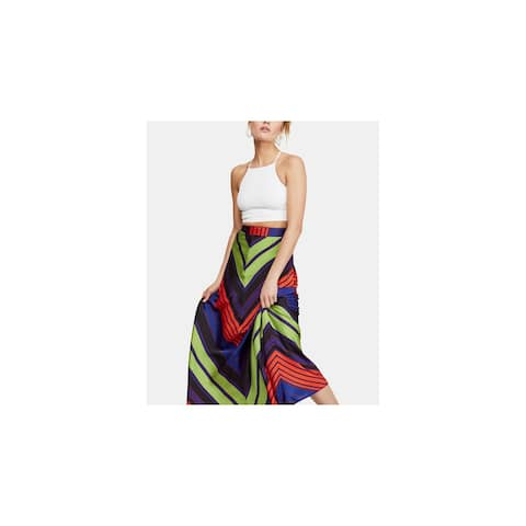 FREE PEOPLE Womens Green Maxi A-Line Skirt Size 6