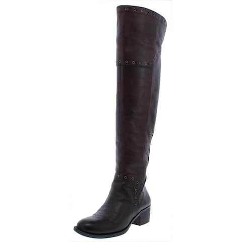 Vince Camuto Womens Bestan Over-The-Knee Boots Grommet Almond Toe