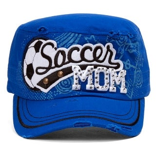 TopHeadwear Soccer Mom Distressed Adjustable Cadet Cap