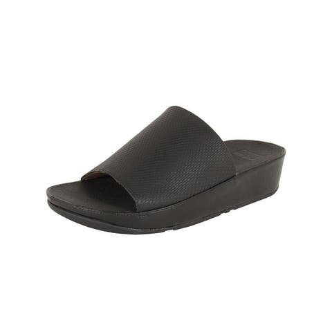 Fitflop Womens 'Ginny Snake Embossed' Slide Sandals