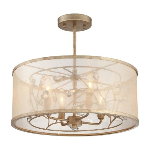 Minka Lavery 4434-252 4 Light Semi-Flush Ceiling Fixture from the Sara's Jewel Collection