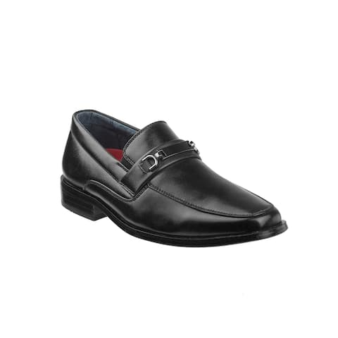 Joseph Allen Black Metal Accent Slip On Dress Shoes Boys