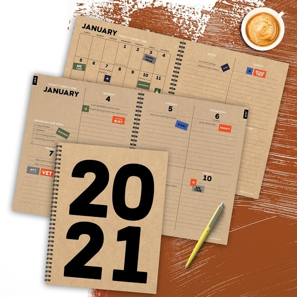 2021 Kraft Year Large Weekly Monthly Planner - 8.5x11. Opens flyout.