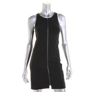 Theory Womens Casual Dress Sleeveless Zip Front