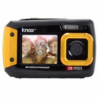Knox Gear Dual-Screen 20MP Rugged Underwater Digital Camera with Video (Yellow)