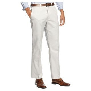 Kenneth Cole New York Flat Front Chinos Pants Light Grey Slim Fit