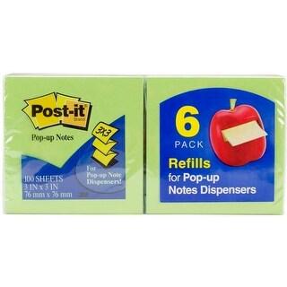 "Assorted Colors - Post-It Pop-Up Note Refills 3""X3"" 6/Pkg"