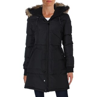 Noize Womens Gail Basic Coat Quilted Faux Fur