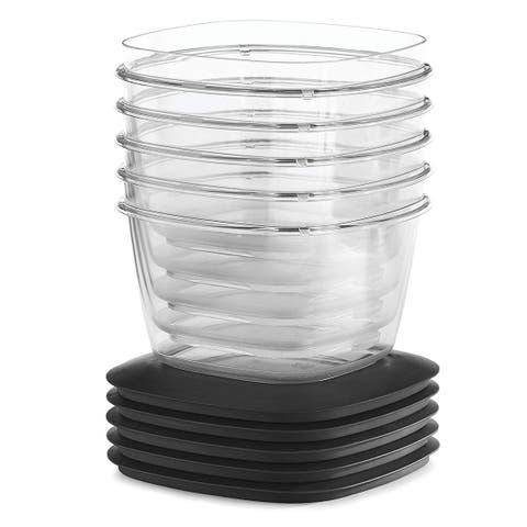 Rubbermaid Premier 5-Pack Easy Find Container Set With Lids, 7-Cup