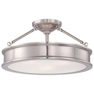 Minka Lavery 4177-84 3 Light Semi-Flush Ceiling Fixture from the Harbour Point Collection