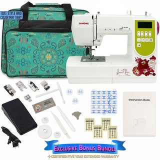 Janome AMH M100 Computerized Sewing Machine with Bonus Bundle