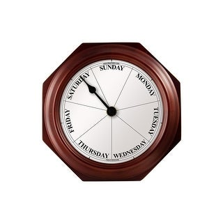 Dayclocks CL-M-E Classic Mahogany Day-of-the-Week Wall Clock