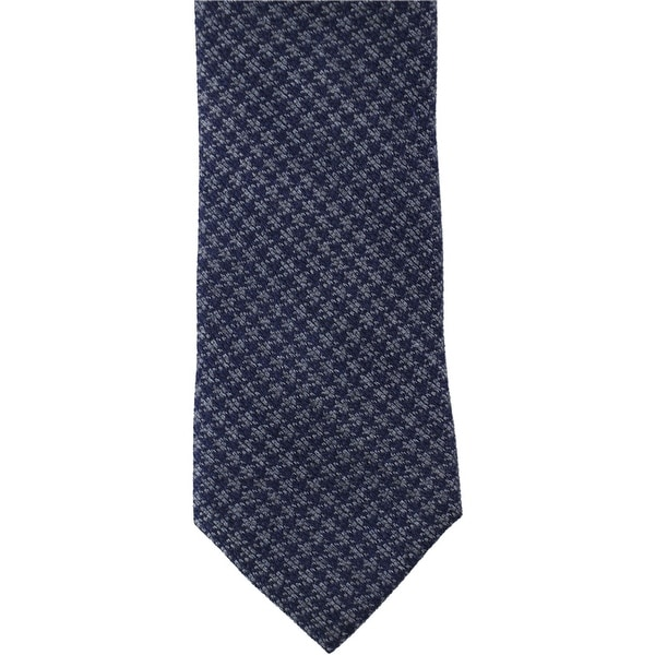 Tallia Mens Houndstooth Self-tied Necktie, blue, One Size - One Size
