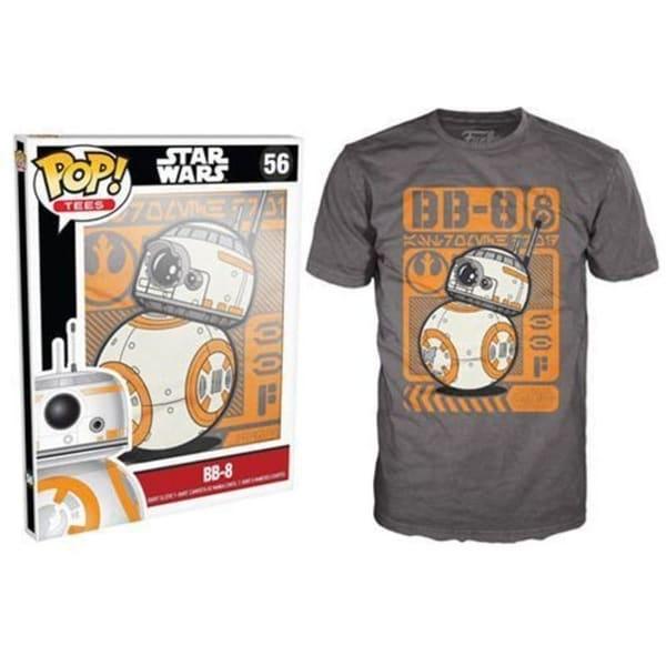 Funko Pop Grey Star Wars Episode 7 BB-8 Type Poster T-Shirt
