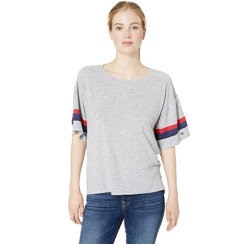Champion Women's Gym Issue Football Tee, Oxford Gray Heather, S