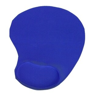 Unique Bargains Little Foot Shaped Polyester Terylene Wrist Support Mouse Pad Mat Black Blue