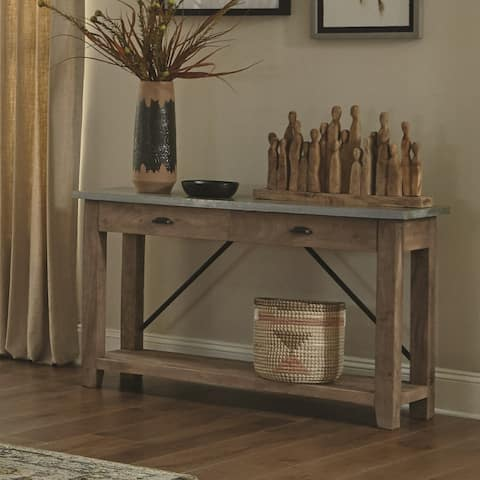 Carbon Loft Blitz 50-inch Wood and Zinc Metal Console Table with 2 Drawers