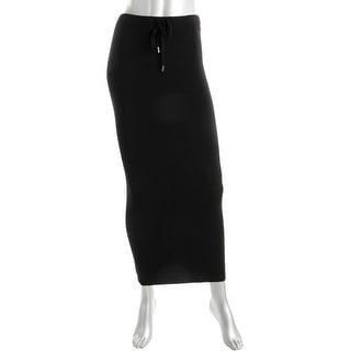 T by Alexander Wang Womens Merino Wool Ribbed Knit Maxi Skirt - S