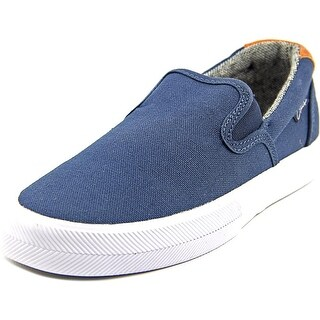 C1rca Corpus Youth Round Toe Canvas Blue Loafer