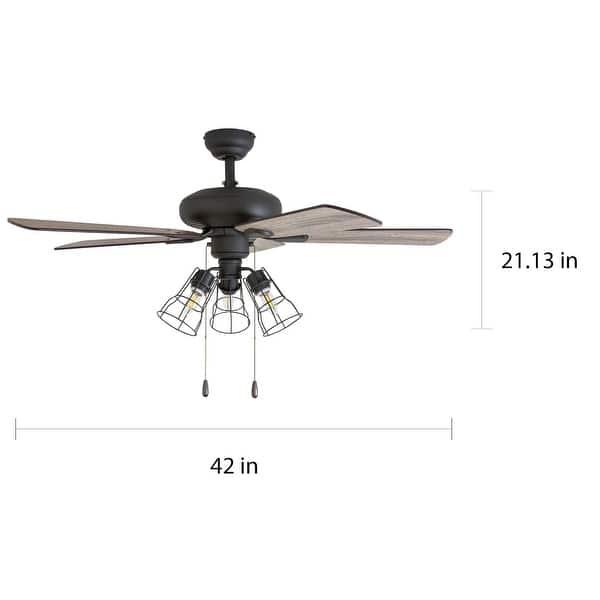 The Gray Barn Rugaard 42 Inch Bronze 3 Light Led Ceiling Fan On Sale Overstock 22344393