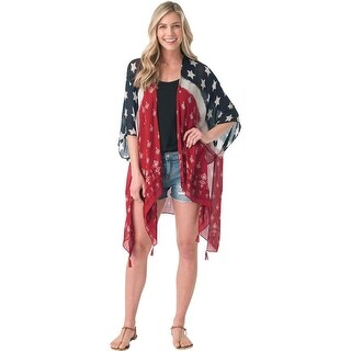 Legendary Whitetails Americana Cape Cover up - vintage stars - One Size Fits most