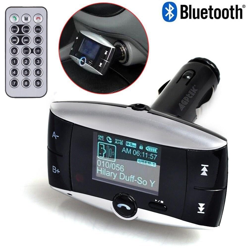 Car Kit MP3 Player Wireless FM Transmitter Modulator USB SD MMC LCD With Remote