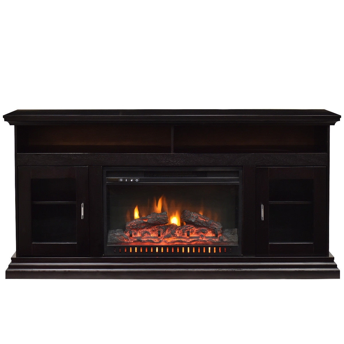 Shop Costway 62 Fireplace Tv Stand Console Storeage Electric