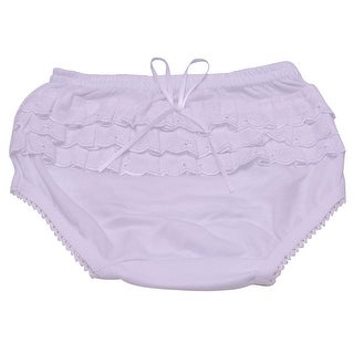 Piccolo Little Girls White Embroidered Ruffle Detail Scallop Trim Underwear 2-4T