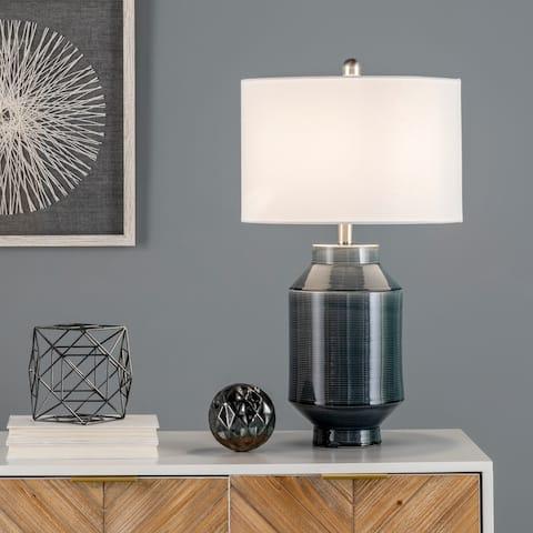 """nuLOOM Napoli 25"""" Ceramic Table Lamp - 14""""W x 14""""D x 25""""H"""