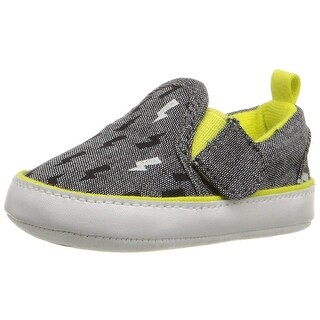 Rosie Pope Kids Footwear Baby Boy Bolt of Sunshine Canvas Slip On Slippers - 0-3 Months