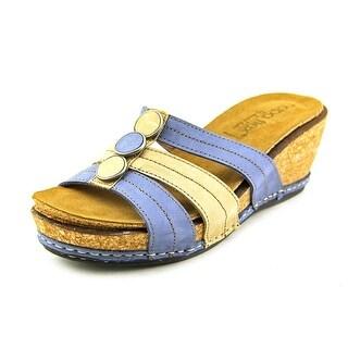 Napa Flex Marinar Open Toe Leather Wedge Heel