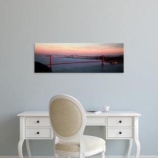Easy Art Prints Panoramic Images's 'Bridge across bay, Golden Gate Bridge, San Francisco Bay, California' Canvas Art