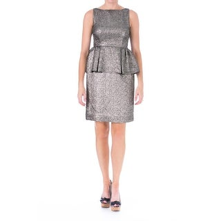 Kate Spade Womens Metallic Peplum Party Dress - 0