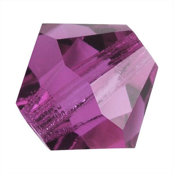 Preciosa Czech Crystal 4mm Bicone Beads 'Amethyst' (50)