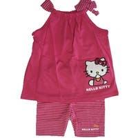 e7795a0bb2c4d Shop Hello Kitty Little Girls Fuchsia Black Flare Tank Top 2 Piece ...