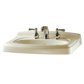 "American Standard 555.108 Portsmouth Pedestal Sink Only with 8"" Centers, 24-3/8"" Length and Overflow - N/A"